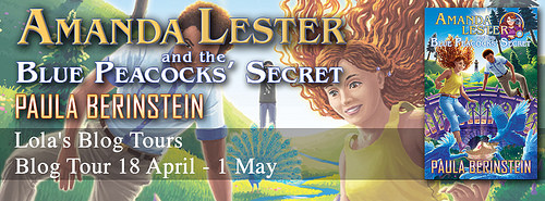 Amanda Lester and the Blue Peacocks' Secret banner