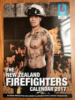 New Zealand Fire Fighters Calendar 2017