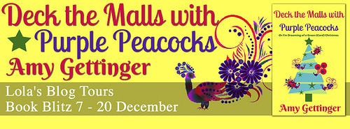 Deck The Malls with Purple Peacocks banner