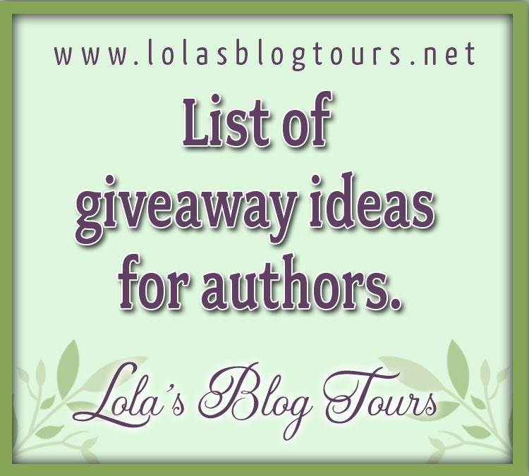 List of giveaway ideas for authors graphic
