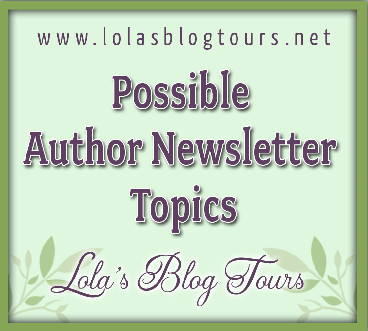 Possible Author Newsletter Topics graphic
